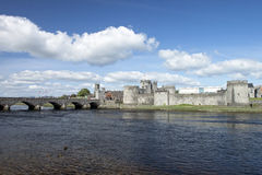 King John Castle in Limerick, Ireland. Royalty Free Stock Photography