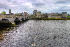 King John castle in Limerick - Ireland. King John's Castle is a castle located on King's Island in Limerick, Ireland, next to the River Shannon Royalty Free Stock Photo