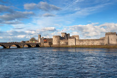 King John Castle in Limerick, Ireland Stock Images