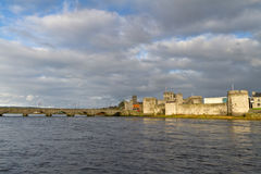 King John Castle and old bridge in Limerick Stock Photography