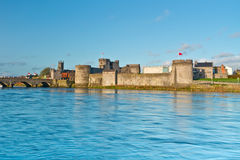 King John Castle at Shannon river. King John Castle in Limerick, Ireland Royalty Free Stock Photo