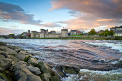King John Castle at Shannon river. In Limerick, Ireland Stock Photography