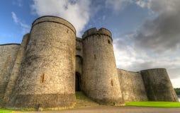 King John Castle walls. King John Castle in Limerick, Ireland stock images