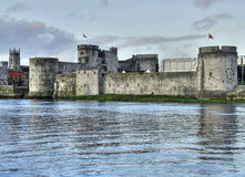 King John's castle HDR. HDR od Limerick castle and Shannon river Stock Images