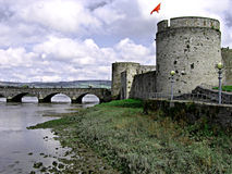 King John's Castle, Ireland. King John's Castle and bridge in Limerick City, Ireland Stock Photos