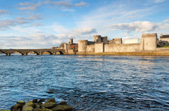 King John's castle in Limerick Stock Photos