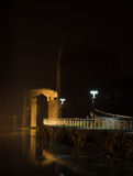 King John's Castle. The walls of King John's castle at night as the River Shannon approaches high tide Royalty Free Stock Photos