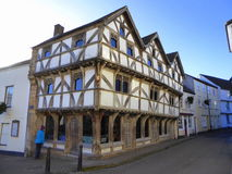 A timber frame building. King John`s Hunting Lodge - a timber frame building in the town of Axbridge in Somerset, England stock images