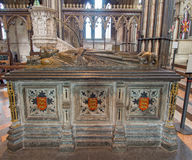 King John. WORCESTER,UK-APRIL 10 2014 : Tomb of King John of England.Buried in Worcester Cathedral.King John signed the Magna Carta stock photography
