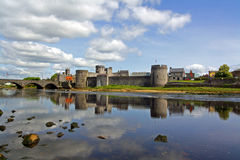 King Johns Castle. Limerick City Ireland from the river shannon Stock Image