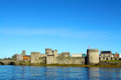 King Johns Castle Limerick City Ireland. Over looking the river Shannon Stock Photography