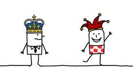King & Joker. King &Joker - hand drawn cartoon characters vector illustration