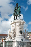 King Jose I equestrian monument in Lisbon, Portugal Royalty Free Stock Image