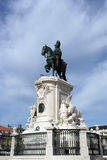 King Joseph statue at the commerce square, Lisbon, Portugal Royalty Free Stock Photos