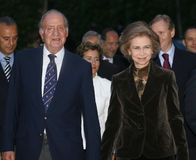 King juan carlos and queen sofia Royalty Free Stock Images