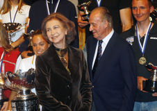 King juan carlos and queen sofia Royalty Free Stock Photography