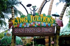 King Julien`s Beach Party-Go-Round Stock Photo