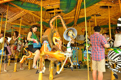 King Julien's (Beach party-go-round) in Universal Studios Singapore Royalty Free Stock Photography