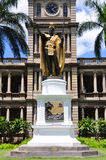 King Kamehameha statue Royalty Free Stock Photography