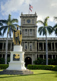 King Kamehameha Statue. In front of Aliʻiolani Hale Royalty Free Stock Photos