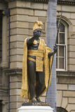 King kamehameha statue hawaii Royalty Free Stock Photos