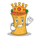 King kebab wrap character cartoon. Vector art vector illustration