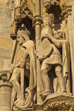 King and knight, detail from the exterior of saint Stephen's catedral at downtown of Vienna Stock Images