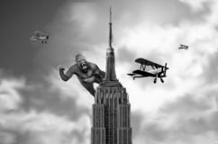 King Kong in Empire State Building Classic royalty free illustration