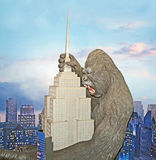 King Kong Mural. Madame Tussauds in New York salutes the iconic if fictitious great ape, King Kong, climbing to the top of the Empire State Building with a mural Royalty Free Stock Photos