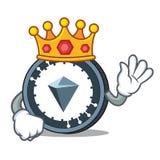 King KuCoin Shares mascot cartoon. Vector illustration Royalty Free Stock Photos