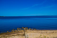 King Lake foreshore. As seen from Metung Stock Photography