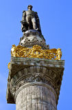 King Leopold I Statue on the Congress Column in Brussels. Royalty Free Stock Photos