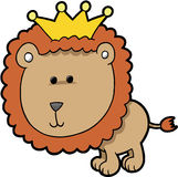 King Lion Vector. Cute King Lion Vector Illustration vector illustration