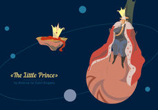 King. The little prince. Stock Photo