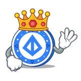 King loopring coin mascot cartoon. Vector illustration Stock Image