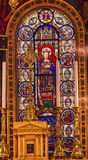 King Louis 9th Stained Glass Saint Louis En L'ile Church Paris France Royalty Free Stock Photo