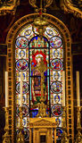 King Louis 9th Stained Glass Saint Louis En L'ile Church Paris France Royalty Free Stock Photos