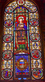 King Louis 9th Stained Glass Saint Louis En L'ile Church Paris France Stock Photos