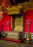 The King Louis XIV bedchamber, Versailles, France. Bedroom of king Louis XIV, Versailles, France stock photos