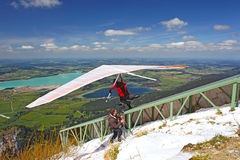 King Ludwig Championship hang gliding competitions Stock Photography