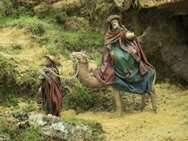 King magician Gaspar on the camel Royalty Free Stock Images