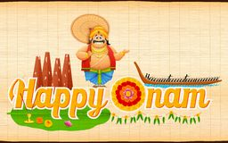 King Mahabali enjoying Boat Race of Kerla on Onam Royalty Free Stock Images