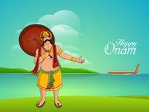 King Mahabali for Happy Onam celebration. Royalty Free Stock Images