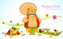 King Mahabali in Onam background Royalty Free Stock Images