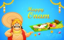 King Mahabali in Onam background Stock Photos