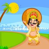 King Mahabali for Onam festival Royalty Free Stock Photos