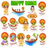 King Mahabali for Onam festival Stock Photo