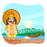 King Mahabali for Onam festival. In vector Royalty Free Stock Photos