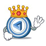 King MaidSafeCoin mascot cartoon style. Vector illustration Stock Images