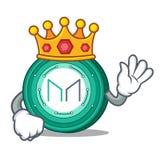 King Maker coin mascot cartoon. Vector Illustration Royalty Free Stock Photos